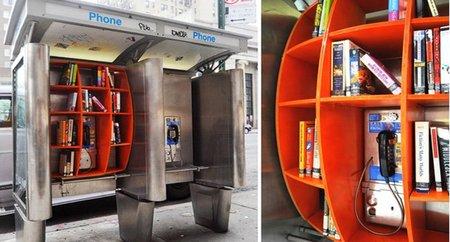 Bibliotecas en cabinas telefónicas en Nueva York