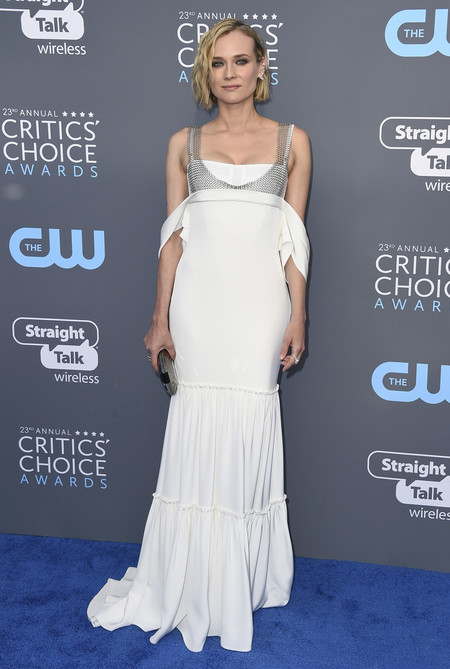 Alfombra Roja Critics Choice Awards 2018 Diane Kruger Vera Wang