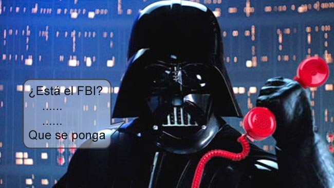 Darth Vader llamando al FBI