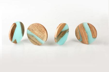 Hattern Resin Wood Stool 9