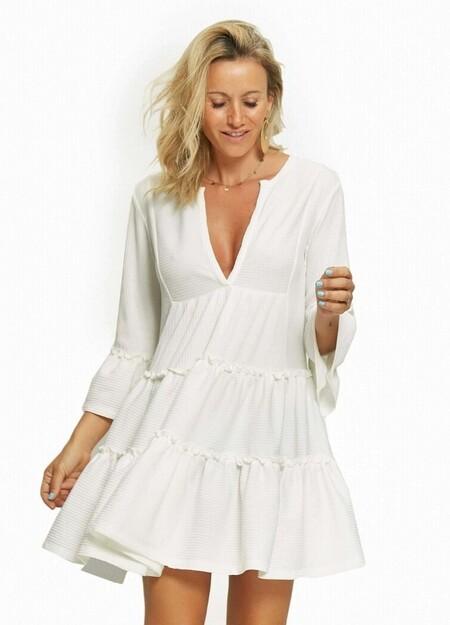 Pau Eche Vestido Blanco