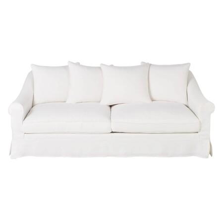Sofa De 4 5 Plazas De Lino Blanco 1000 0 14 202062 1