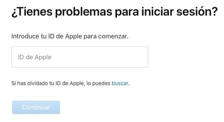 Apple Recuperar Contrasena