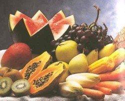 Frutas y verduras en los zumos