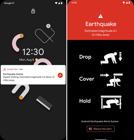 Android earthquakes