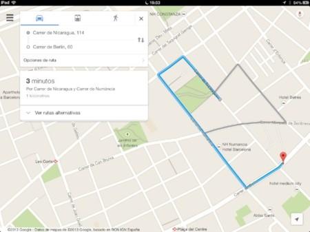 google maps calle nicaragua