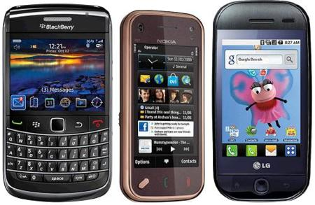 Precios del Nokia N97 Mini, LG GW620 con Android y Blackberry 9700 en Orange