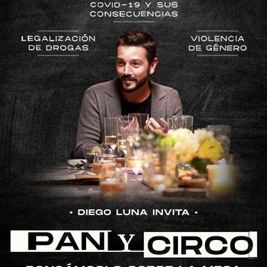 """Amazon Prime estrena """"Pan y Circo"""". Reconocidos chefs mexicanos platicarán y cocinarán con el actor Diego Luna"""