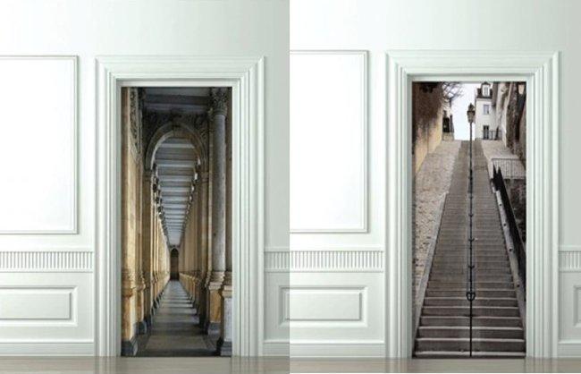 Decorar puertas recreando escenas falsas - Decorar cristales de puertas ...