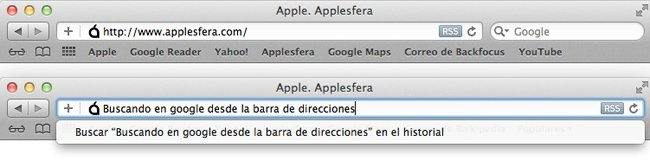 Safari 5 barra de búsqueda como Chrome