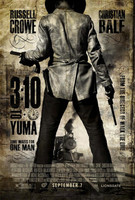 Póster de '3:10 to Yuma', con Christian Bale y Russell Crowe