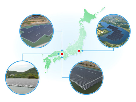 Gallery 1453406696 Map Of Floating Solar Power Projects By Kyocera Tcl Solar