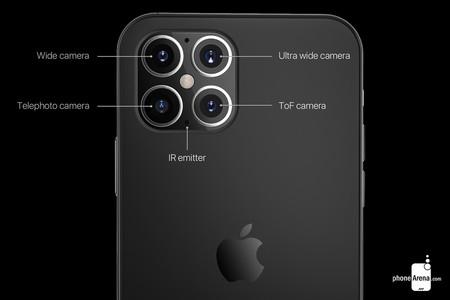 Conepto de cámaras del iPhone 12