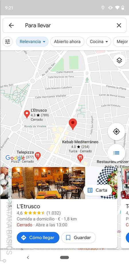 Lista Restaurantes