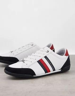 Zapatillas de deporte blancas de mezcla de materiales Corporate de Tommy Hilfiger
