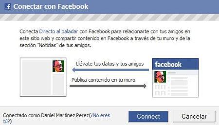 Conéctate a Directo al Paladar con tu cuenta de Facebook