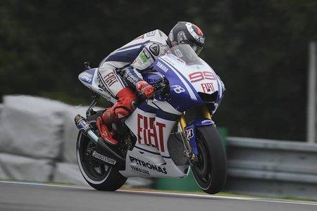 Jorge Lorenzo al frente de la tabla de tiempos en el Test Oficial de Brno