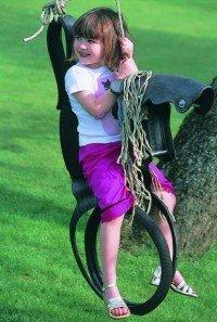 Tyre Horse Swing: el caballo de caucho