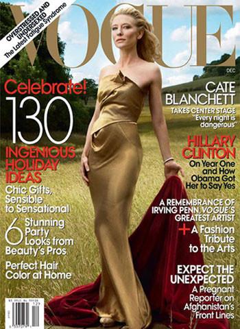Cate Blanchett portada de diciembre del Vogue americano