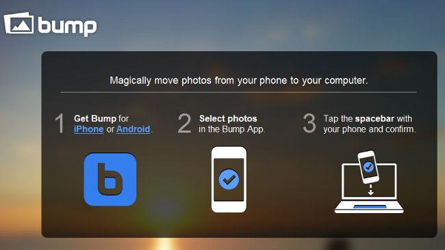 Bu.mp permite compartir imágenes de tu móvil chocando con tu ordenador