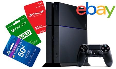 Ahorro extra para el entretenimiento en casa con el cupón PARACASA de eBay: consolas y saldo para las tiendas online con descuento
