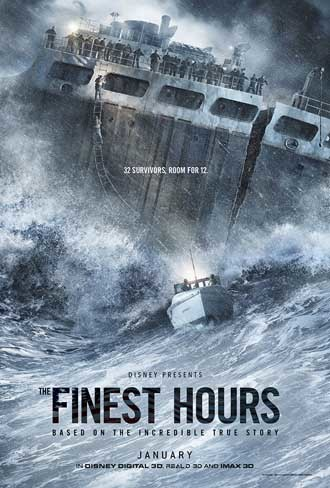 'La hora decisiva' ('The Finest Hour'), cartel y tráiler del drama con Chris Pine y Casey Affleck