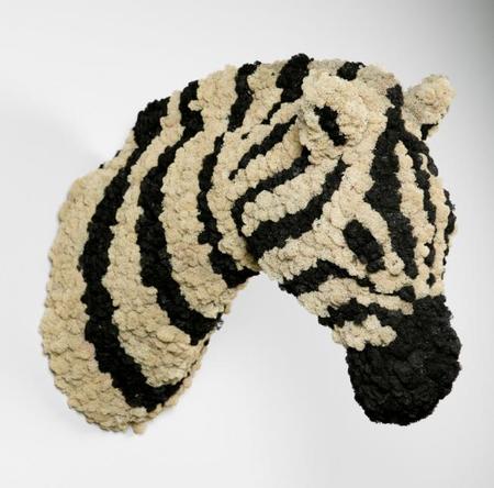 Greenarea Animoss Zebra White W 002
