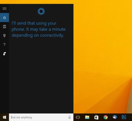 Cortana Enviando El Mensaje