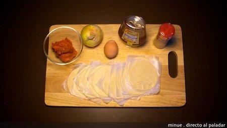 Empanadilla de sobrasada y miel - ingredientes
