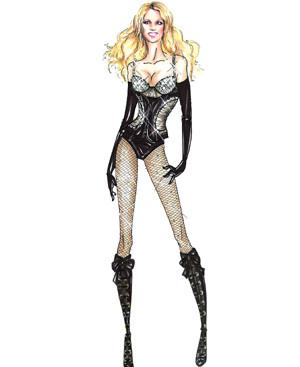 Britney Spears de Dsquared2 en su gira Circus