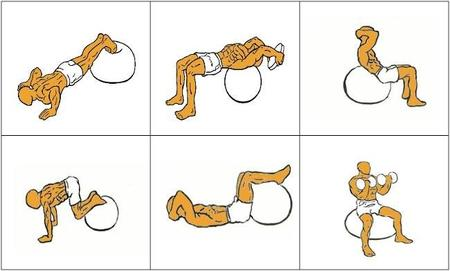 Ejercicios con fitball para trabajar todos los músculos