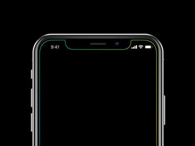 Estos wallpapers para el iPhone X marcan sólo el borde de la pantalla, haciendo que el notch salga a relucir