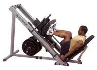 Prohibido extender piernas en la máquina de prensa