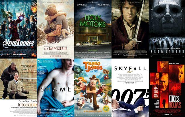 Carteles de algunas de las películas más destacadas de 2012