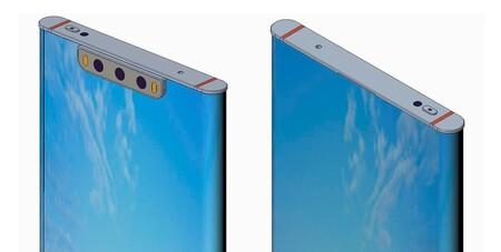 Xiaomi patenta un móvil envuelto por completo con pantalla y con 'notch' para las cámaras