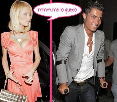 Paris Hilton acosa a Cristiano Ronaldo