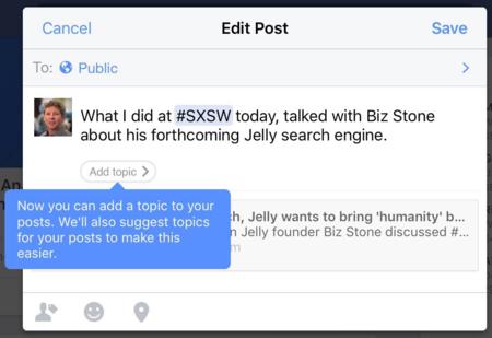 """Facebook  podría estar probando una nueva función: los """"temas"""""""
