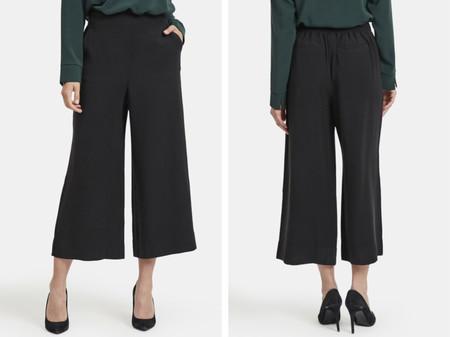 Pantalon Culotte De Mujer Vila Con Cintura Alta Y Pata De Elefante