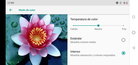 El ajuste de color en el Motorola One
