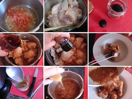 Receta de pollo al vino dulce con trufas