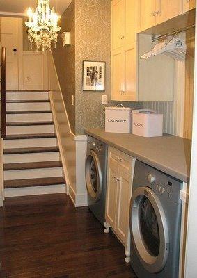 Ideas para crear tu lavander a en casa for Diseno de muebles para cuarto de lavado