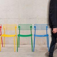 De metal y desmontable, la silla Hache permite que cambies a tu antojo su forma y su color