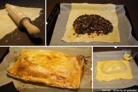 empanada de morcilla - elaboración 2