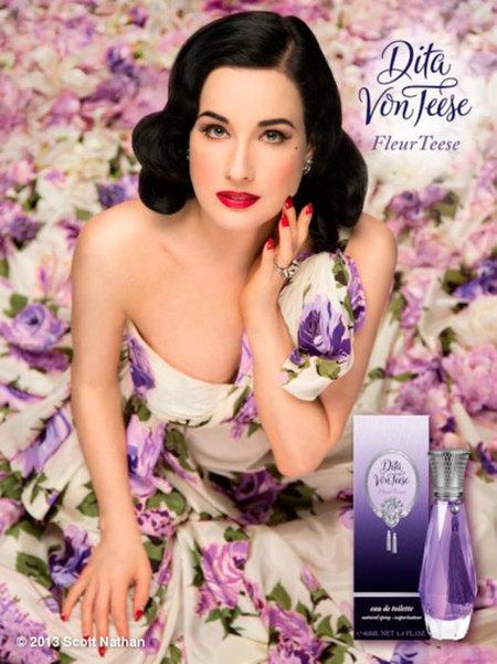 Dita Von Teese lanza su tercer perfume con aires muy florales