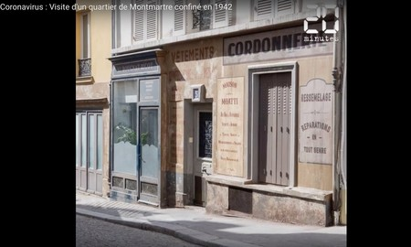Las calles de París a las que el confinamiento ha congelado en 1942