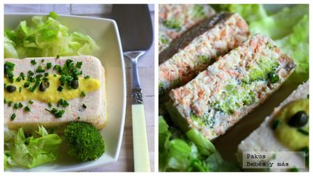 Pastel de salmón, queso crema y brócoli. Receta de Navidad para embarazadas