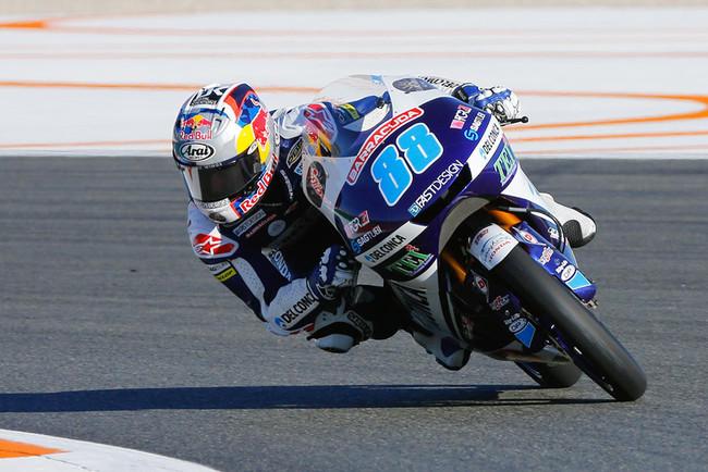 Jorge Martín comienza el GP de Valencia mandando en Moto3