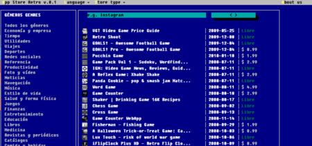 Así se vería la App Store si se hubiese lanzado en los años 80