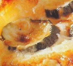 Gratinado de calabacines con queso