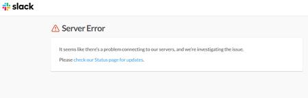 """Slack se cae mientras el mundo vuelve a la """"oficina"""" [actualización]"""